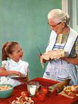 Няня - бабушка для малыша. Надежность и доброта.